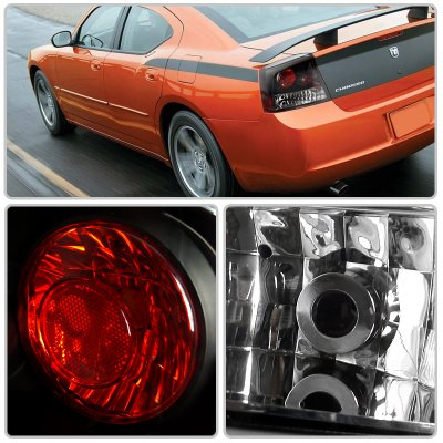 Dodge Charger 2006 2008 Black Altezza Tail Lights