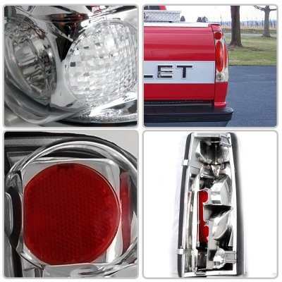 chevy silverado 1988 1998 clear altezza tail lights. Black Bedroom Furniture Sets. Home Design Ideas