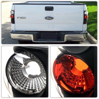 Ford F150 2004-2008 Black Altezza Tail Lights