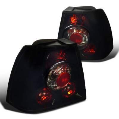 VW Jetta 1999-2004 Black Smoked Altezza Tail Lights
