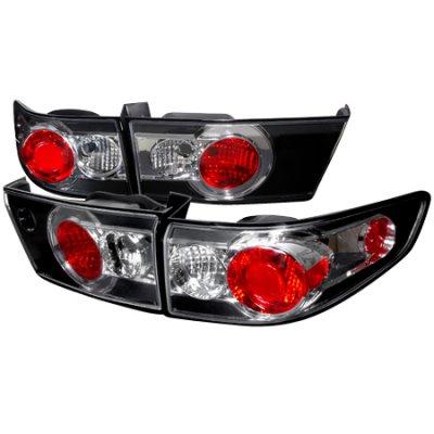 Honda Accord Sedan 2003-2005 Black Altezza Tail Lights