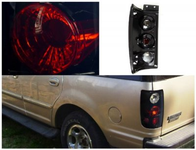 Ford Expedition 1997 2002 Black Smoked Altezza Tail Lights