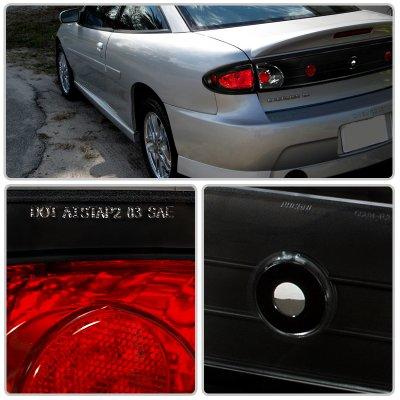 Chevy Cavalier 2003 2005 Black Altezza Tail Lights