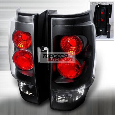 Chevy Avalanche 2007-2009 Black Altezza Tail Lights