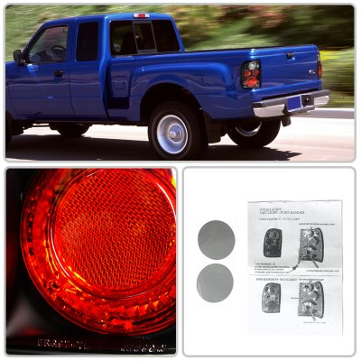 Ford Ranger 1998-2005 Black Altezza Tail Lights