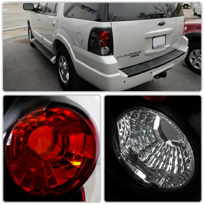 Ford Expedition 2003 2006 Black Altezza Tail Lights