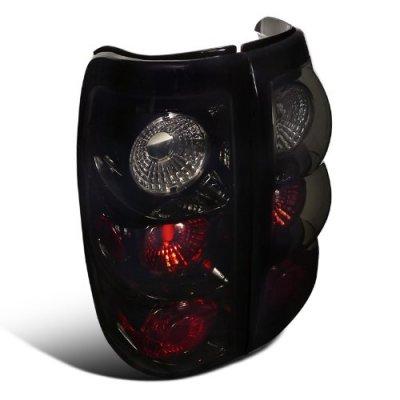Chevy Silverado 1999-2002 Black Smoked Altezza Tail Lights