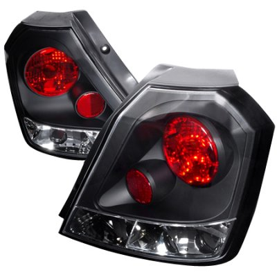 Chevy Aveo Hatchback 2004-2008 Black Altezza Tail Lights