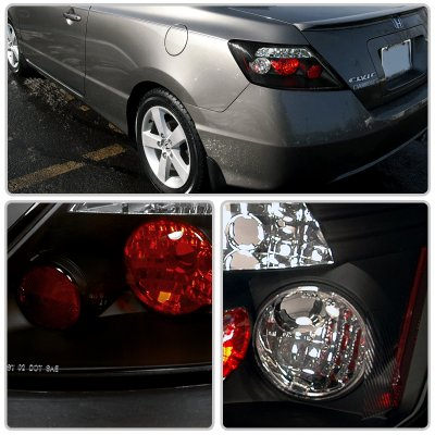 Honda Civic Coupe 2006-2010 JDM Black Altezza Tail Lights | A122URUL110 - TopGearAutosport
