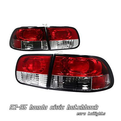 Honda Civic Hatchback 1992-1995 Euro Tail Lights