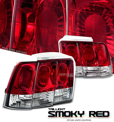 Ford Mustang 1999-2004 Smoky Red Euro Tail Lights