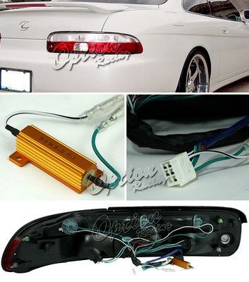 Lexus SC400 1992-1994 Red and Clear Euro Tail Lights