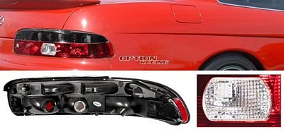 Lexus SC300 1992-1994 Red and Smoked Euro Tail Lights