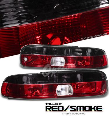 Lexus SC300 1995-1999 Red and Smoked Euro Tail Lights