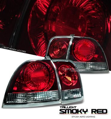 Honda Accord 1996-1997 Smoked Red Euro Tail Lights