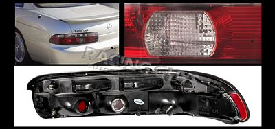 Lexus SC400 1992-1994 Smoky Red Euro Tail Lights