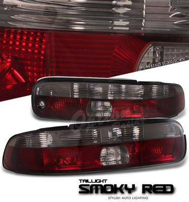Lexus SC400 1995-1999 Smoky Red Euro Tail Lights