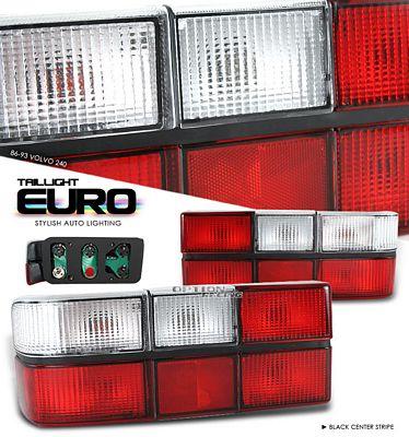 Volvo 240 1981 1993 Black Euro Tail Lights A101d0r9111