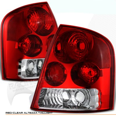 Mazda Protege 1999-2003 Red and Clear Euro Tail Lights