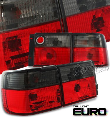 VW Jetta 1993-1998 Red and Smoked Euro Tail Lights