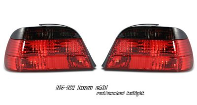 BMW E38 7 Series 1995-2001 Red and Smoked Euro Tail Lights