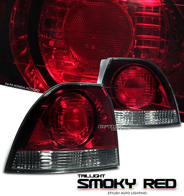 Honda Accord 1994-1995 Smoky Red Euro Tail Lights