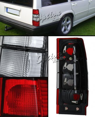 Volvo 740 Tail Light - Volvo Red And Clear Euro Tail Lights - Volvo 740 Tail Light