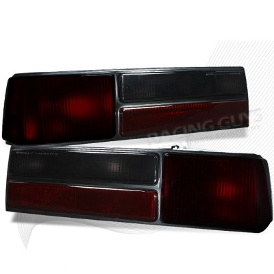 Ford Mustang LX 1987-1993 Depo Red and Smoked Euro Tail Lights
