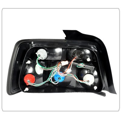 BMW 3 Series Sedan 1992-1998 Tail Lights Red and Clear