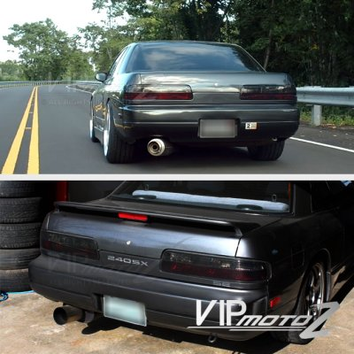 Nissan 240SX Coupe 1989-1994 Red and Smoked Euro Tail Lights