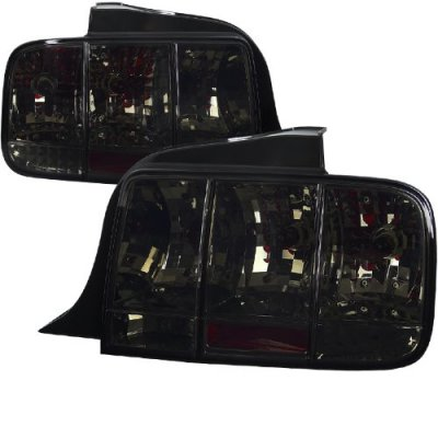 Ford Mustang 2005-2009 Smoked Euro Tail Lights Sequential