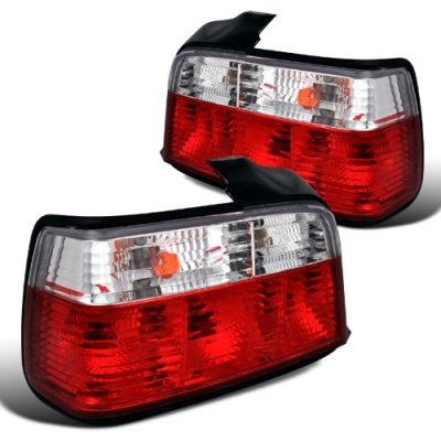 BMW 3 Series Sedan 1992-1998 Euro Tail Lights Red and Clear