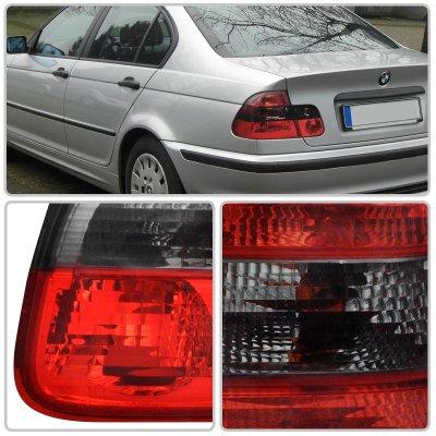 BMW 3 Series Sedan 1999-2001 Euro Tail Lights Red and Smoked