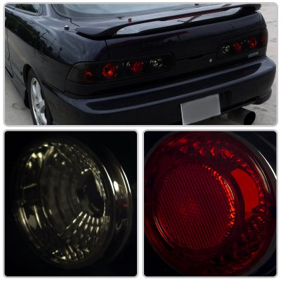 Acura Integra Coupe Black Smoked Euro Tail Lights - 1999 acura integra tail lights