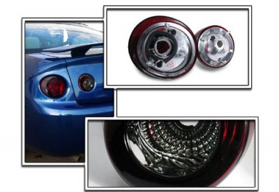 Chevy Cobalt Coupe 2005-2010 Red and Smoked Euro Tail Lights