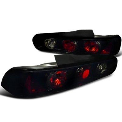 Acura Integra Coupe 1994-2001 Black Smoked Euro Tail Lights
