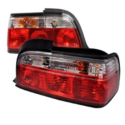 BMW 3 Series Coupe 1992-1998 Euro Tail Lights Red and Clear