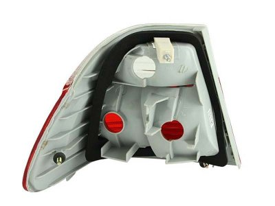 BMW 3 Series Sedan 1999-2001 Red and Clear Euro Tail Lights