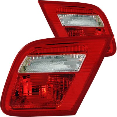 BMW 3 Series Coupe 1999-2001 Red and Clear Euro Trunk Tail Lights