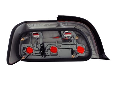 BMW 3 Series Coupe 1992-1998 Red and Smoked Euro Tail Lights
