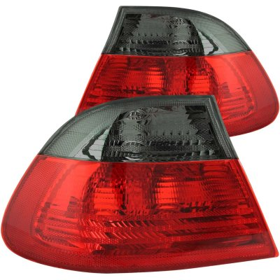 BMW 3 Series Coupe 1999-2001 Red and Smoked Euro Tail Lights