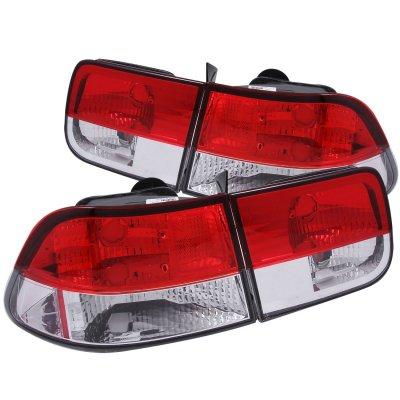 Honda Civic Coupe 1996-2000 Crystal Tail Lights