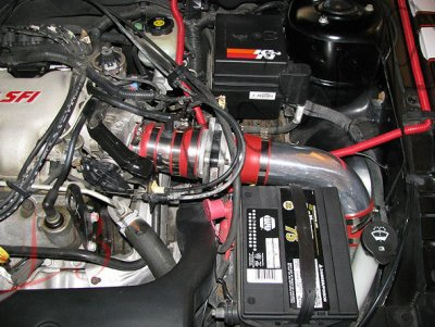 Pontiac Grand AM 1999-2005 Cold Air Intake with Red Air Filter