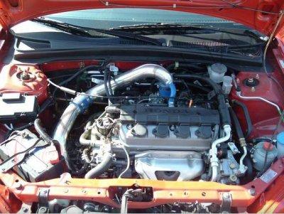 Honda Civic 2001-2005 Polished Cold Air Intake System