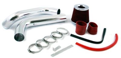 Acura Integra 1994-2001 Polished Cold Air Intake System with Red Air Filter