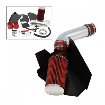GMC Sierra V8 1996-1999 Cold Air Intake with Heat Shield and Red Filter