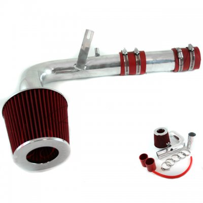 Dodge Neon 2000-2005 Polished Cold Air Intake with Red Air Filter