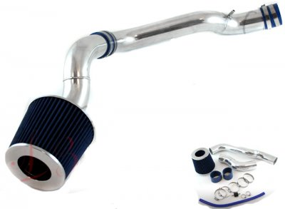 Honda Civic 1988-1991 Polished Cold Air Intake with Blue Air Filter