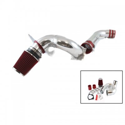 Ford Mustang V8 1996-2004 Polished Cold Air Intake with Red Air Filter