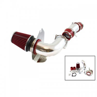 Ford Mustang V8 1994-1995 Polished Cold Air Intake with Red Air Filter